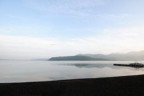 山中湖の朝